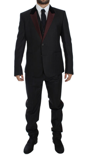 Gray 3 Piece Slim Fit Suit Tuxedo Smoking