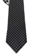 Load image into Gallery viewer, Black Silk Patterned Tie
