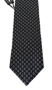 Black Silk Patterned Tie