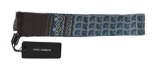 Load image into Gallery viewer, Gray Silk Blue Pattern Scarf