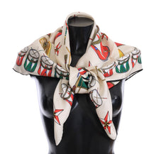 Load image into Gallery viewer, Multicolor Italy Silk Scarf