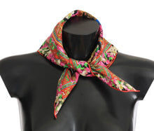 Load image into Gallery viewer, Silk Multicolor Knight Floral Scarf