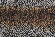 Load image into Gallery viewer, Brown Leopard Print Cotton Square Scarf