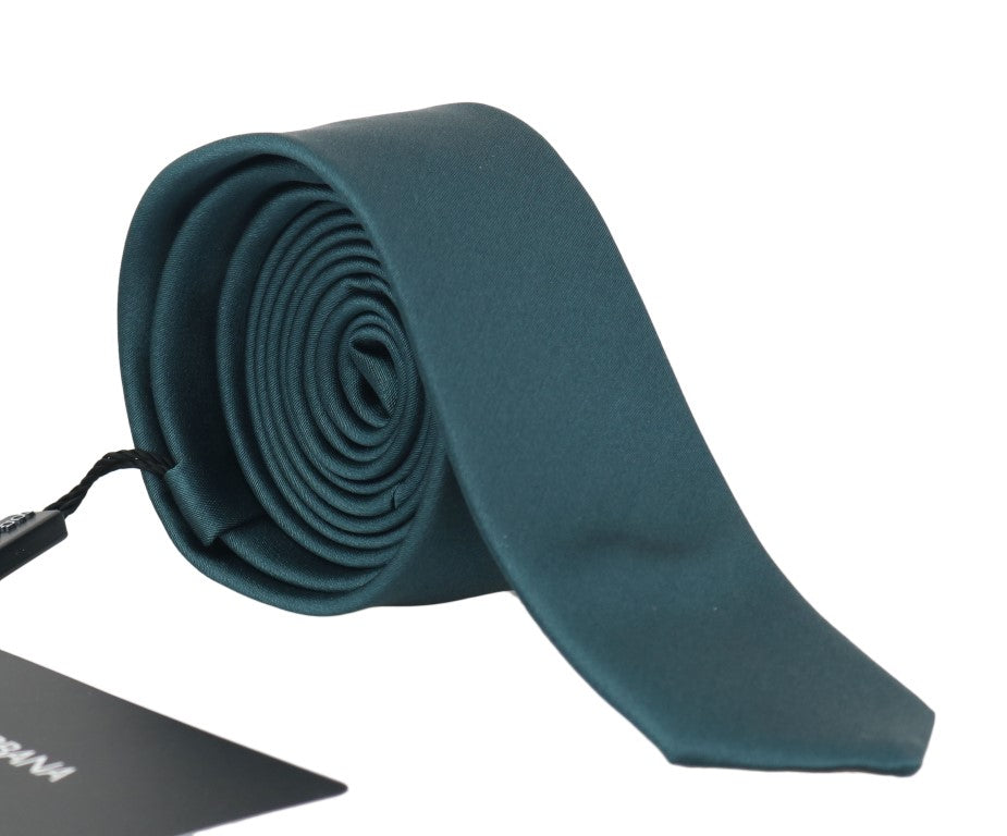 Green Silk Solid Slim Tie