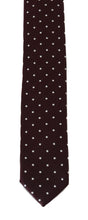 Load image into Gallery viewer, Bordeaux Silk Polka Dot Slim Tie