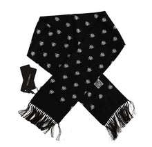 Load image into Gallery viewer, Black Silk Trinacria Print Scarf