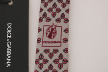 Load image into Gallery viewer, Gray Silk Red Ladybug Print Classic Tie