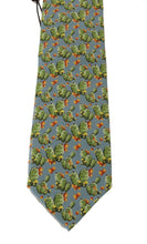 Load image into Gallery viewer, Blue Silk Cactus Print Tie