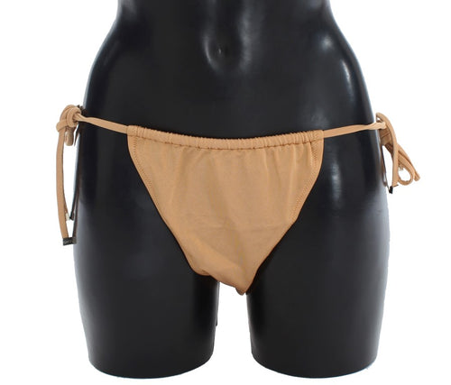 Beige Bikini Bottom Swimwear Beachwear