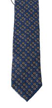 Load image into Gallery viewer, Blue Silk Gray Ladybug Print Tie