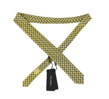 Load image into Gallery viewer, Yellow Silk Dragonfly Print Classic Tie