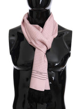 Load image into Gallery viewer, Pink Silk Polka Dot Scarf