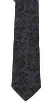 Load image into Gallery viewer, Gray Silk Floral Pattern Classic Tie