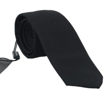 Load image into Gallery viewer, Black Silk Patterned Classic Tie