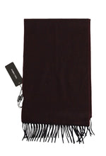 Load image into Gallery viewer, Bordeaux Cashmere Fringes Scarf