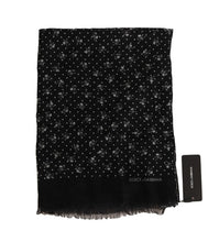 Load image into Gallery viewer, Gray Cashmere Skull Scarf
