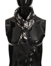 Load image into Gallery viewer, Brown Cashmere Leaves Print Scarf