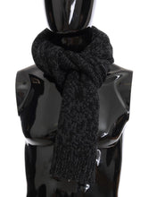 Load image into Gallery viewer, Black Gray Cashmere Woven Scarf