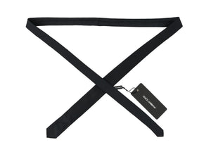 Black Silk Skinny Slim Tie
