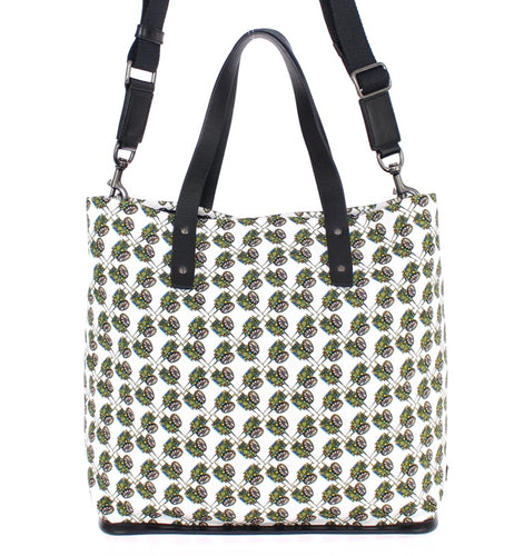 Multicolor denim tote bag
