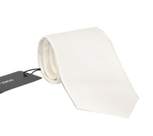 Load image into Gallery viewer, White Silk Solid Tie