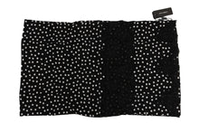 Load image into Gallery viewer, Black Silk Polka Dotted Scarf