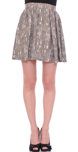 Gray Mini Short A-Line Skirt