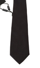 Load image into Gallery viewer, Gray Silk Black Dotted Classic Tie