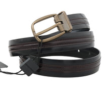 Load image into Gallery viewer, Black Bordeaux Leather Belt