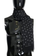 Load image into Gallery viewer, Dark Gray Cashmere Skull Print Scarf