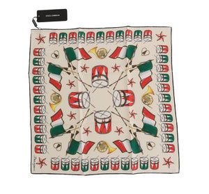 Silk Multicolor Italian Drum Scarf