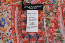 Load image into Gallery viewer, Multicolor Carretto Floral Silk Scarf