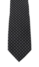 Load image into Gallery viewer, Black Silk White Wide Tie