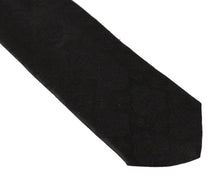 Load image into Gallery viewer, Black Silk Paisley Classic Tie