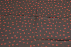 Black Red Polka Dotted Silk Scarf