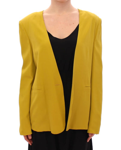 Mustard Yellow Silk Blazer Jacket
