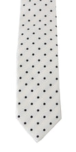 Load image into Gallery viewer, White Silk Polka Dot Print Tie