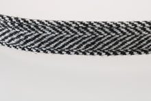 Load image into Gallery viewer, Black White Chevron Wool Leather Belt