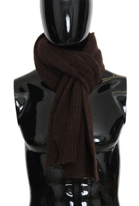 Brown Wool Woven Scarf