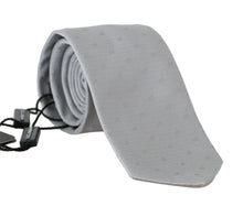 Load image into Gallery viewer, Gray Silk Polka Dot Print Tie
