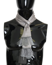 Load image into Gallery viewer, Gray 100% Silk Solid Scarf