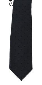 Dark Gray Silk Polka Dot Print Tie