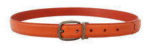 Load image into Gallery viewer, Orange Leather Gold Buckle Belt