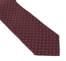 Load image into Gallery viewer, Bordeaux Silk Dotted Wide Tie