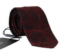 Load image into Gallery viewer, Bordeaux Silk Black Classic Tie