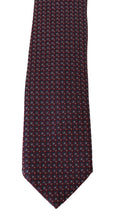 Load image into Gallery viewer, Bordeaux Silk Blue Pattern Wide Tie