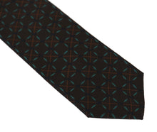 Load image into Gallery viewer, Brown Silk Patterned Classic Tie
