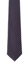 Load image into Gallery viewer, Bordeaux Silk Blue Pattern Slim Tie