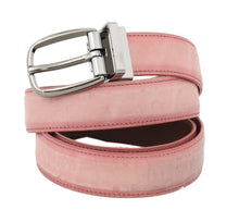 Load image into Gallery viewer, Pink Antique Leather Silver Buckle Belt
