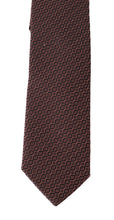 Load image into Gallery viewer, Bordeaux Silk Pattern Slim Tie